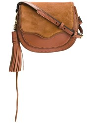 Rebecca Minkoff Tassel Detail Saddle Bag Brown