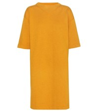 Etoile Isabel Marant Bryony Cotton Blend Sweatshirt Dress Yellow