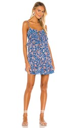 Free People Take Me With You Ruffle Dress In Black. Blue