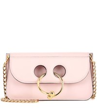 J.W.Anderson Small Pierce Leather Shoulder Bag Pink