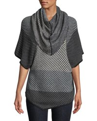 Chelsea And Theodore Cowl Neck Half Sleeve Sweater Black