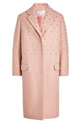Carven Embellished Coat With Wool Pink