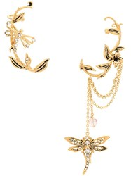 Alberta Ferretti Ornate Dragonfly Ear Cuff Gold