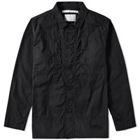 White Mountaineering Military Shirt Jacket Black