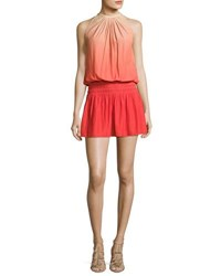 Ramy Brook Paris Sleeveless Ombre Mini Dress Spring Red Nude Red Pattern