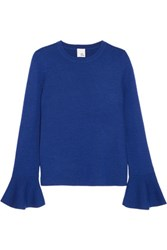 Iris And Ink Carmen Wool Sweater Blue