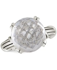 Peter Thomas Roth Rock Crystal Ring In Sterling Silver White