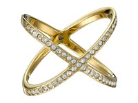 Michael Kors Brilliance Pave X Ring Gold Ring