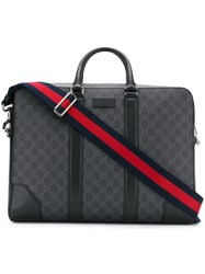Gucci Gg Supreme Briefcase Black
