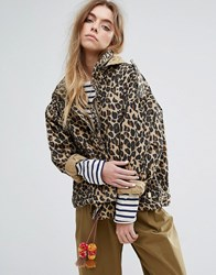 Maison Scotch Relaxed Fit Army Jacket With Hidden Hood Multi