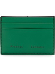 Proenza Schouler Origami Card Holder Black