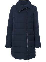 Moncler Quilted Padded Coat Women Polyamide Polyester Feather Goose Down 2 Blue