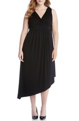 Karen Kane Plus Size Women's Asymmetrical Jersey Maxi Dress