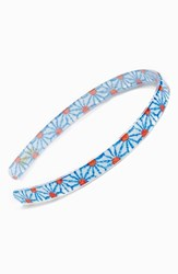 France Luxe 'Ultra Comfort' Headband Blue Green Kaleidoscope Daisy Turq Mult