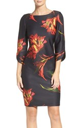 Gabby Skye Women's Floral Sheath Dress