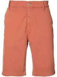 7 For All Mankind Chino Midi Shorts Men Cotton Polyester Spandex Elastane 34 Yellow Orange