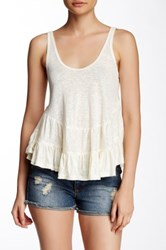 Leibl '38 Ruffle Bottom Tank White