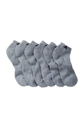Adidas Athletic Cushioned Compression Low Cut Socks Pack Of 6 Men Gray