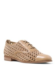Michael Michael Kors Sunny Perforated Leather Oxfords Dark Khaki