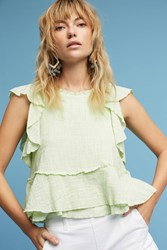 Anthropologie Cascade Tiered Shell Lime