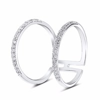 Cosanuova Chloe Diamond Ring 18K White Gold Silver