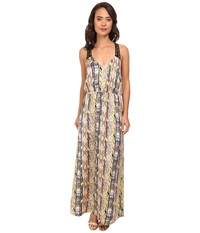 Gabriella Rocha Coda Print Maxi Dress Blue Combo Women's Dress Multi