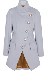 Vivienne Westwood State Asymmetric Wool Blend Coat Purple
