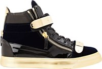 Giuseppe Zanotti Plated Strap Double Zip Sneakers Colorless
