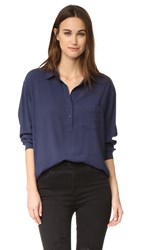 Rails Elle Shirt Midnight Stripe