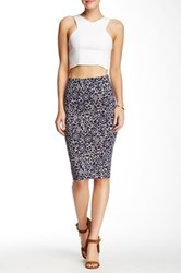 Lily White Bodycon Midi Skirt Multi