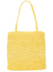 Maryam Nassir Zadeh Valentina Knitted Pouch Bag Yellow And Orange