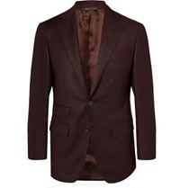 Thom Sweeney Burgundy Wool And Cashmere Blend Suit Jacket Burgundy
