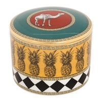 Richard Ginori 1735 Totem Camel Cylindrical Box With Lid