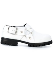 Alyx Strappy Ankle Boots Calf Leather Leather Rubber White