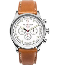 Jack Mason Jm N102 104 Nautical Chronograph Stainless Steel And Leather Watch
