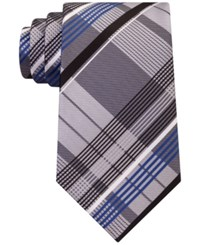 Geoffrey Beene Men's Under The Sun Plaid Tie Black