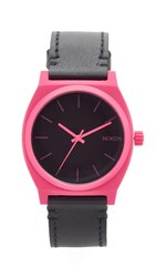 Nixon The Time Teller Watch Pink Black