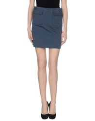 Celine Celine Knee Length Skirts Slate Blue