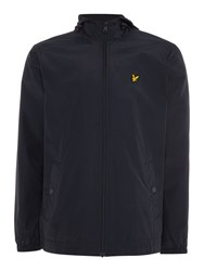 Lyle And Scott Zip Through Hooded Jacket Navy