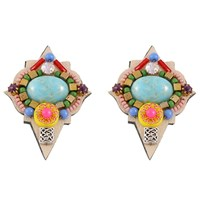 Niino Jewelry Bohemian Statement Earrings Gold