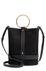 Vince Camuto Ashbe Leather Bucket Bag Black