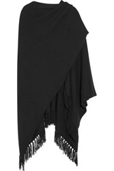 Joseph Fringed Cashmere Wrap Black