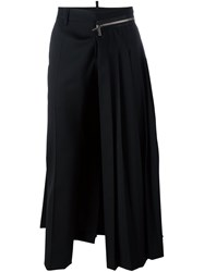 Dsquared2 'Punk' Pleated Trousers Black