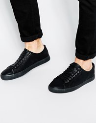 New Look Lace Up Trainers Black
