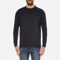 Barbour Men's Pima Cotton Crew Knitted Jumper Navy