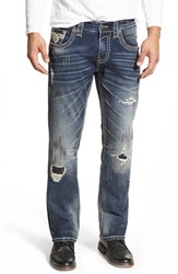 Men's Rock Revival 'Joel' Straight Leg Jeans Medium Blue