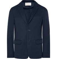 Tomorrowland Unstructured Knitted Cotton Blazer Navy