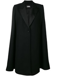 Karl Lagerfeld Button Tailored Cape Black