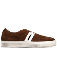 Neil Barrett Classic Lace Up Sneakers Brown
