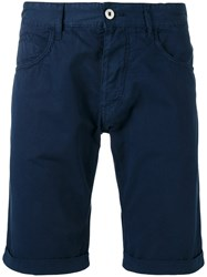 Armani Jeans Classic Chino Shorts Blue
